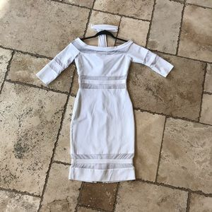 WHITE MIDI DRESS (WORN ONCE!!)